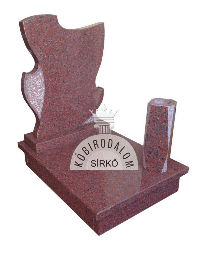 Africa Red urna gránit sírkő