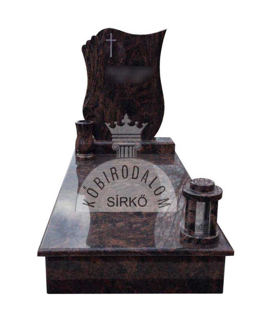 Auróra szimpla gránit sírkő