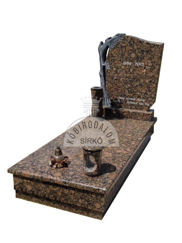 Baltic Brown szimpla sírkő