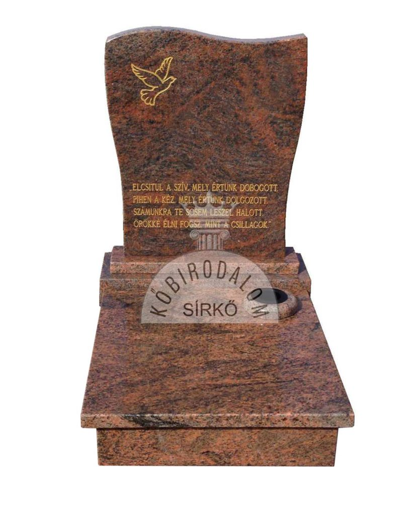 Multicolor urna gránit sírkő