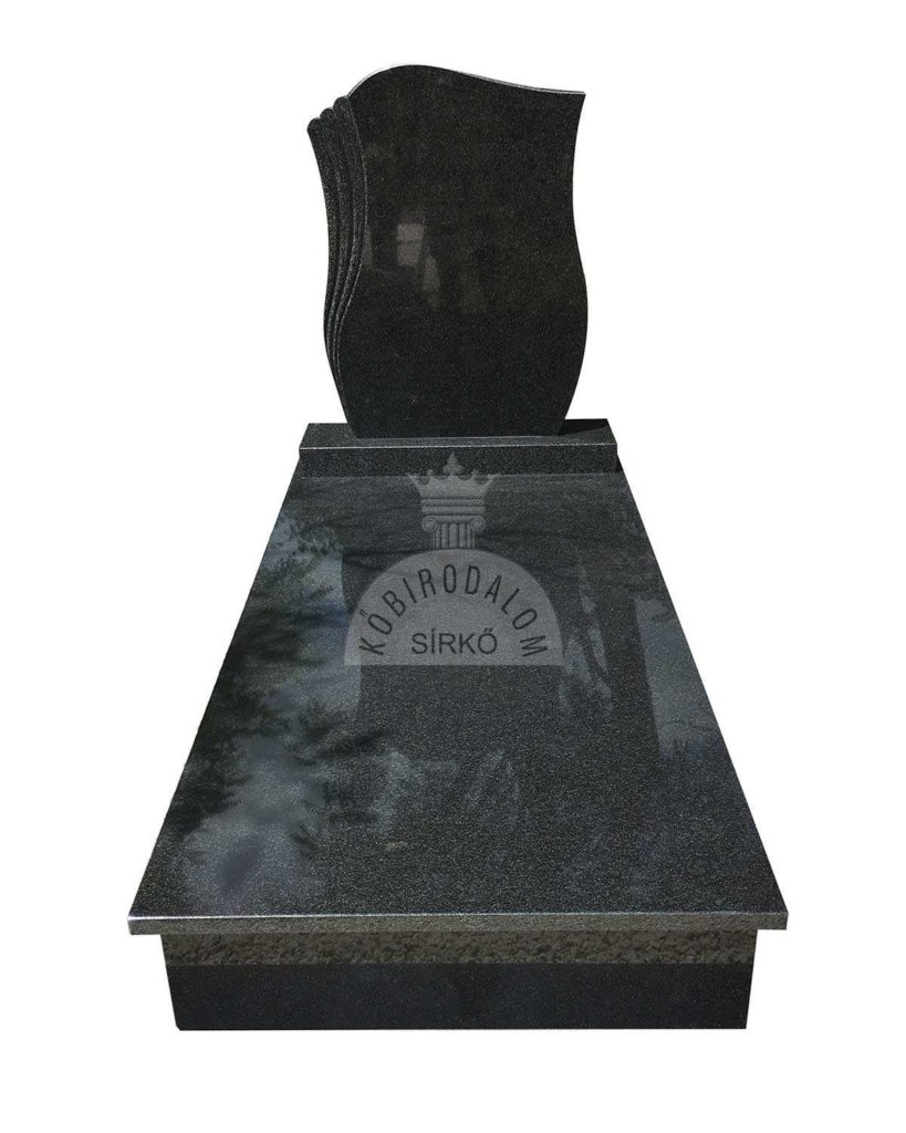 Royal Black szimpla gránit sírkő