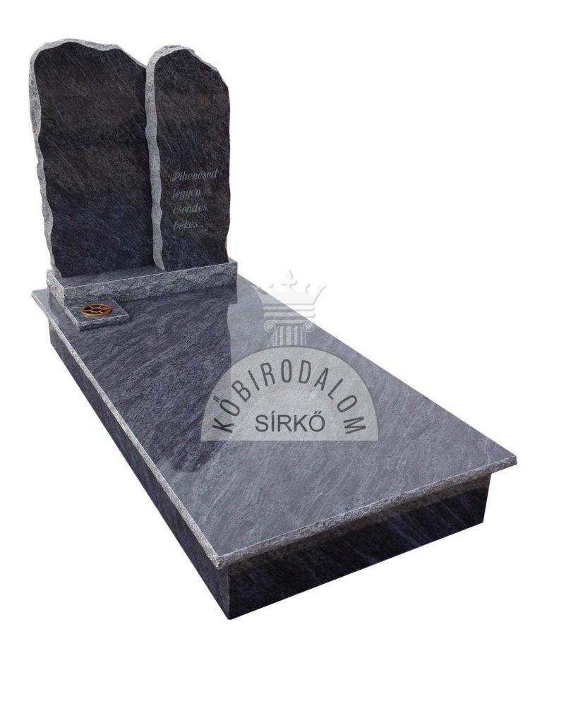 Vizag Blue szimpla gránit sírkő