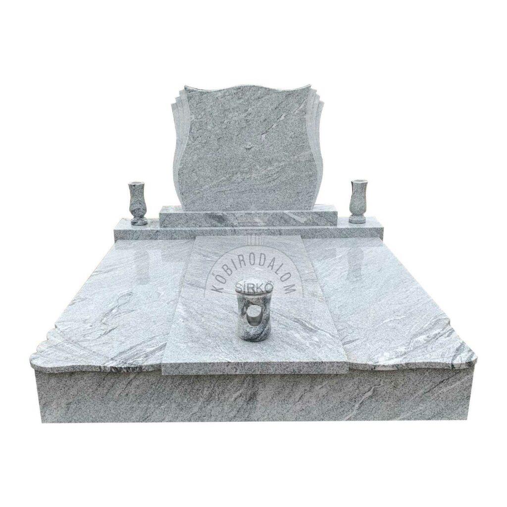 Viscount White gránit dupla sírkő
