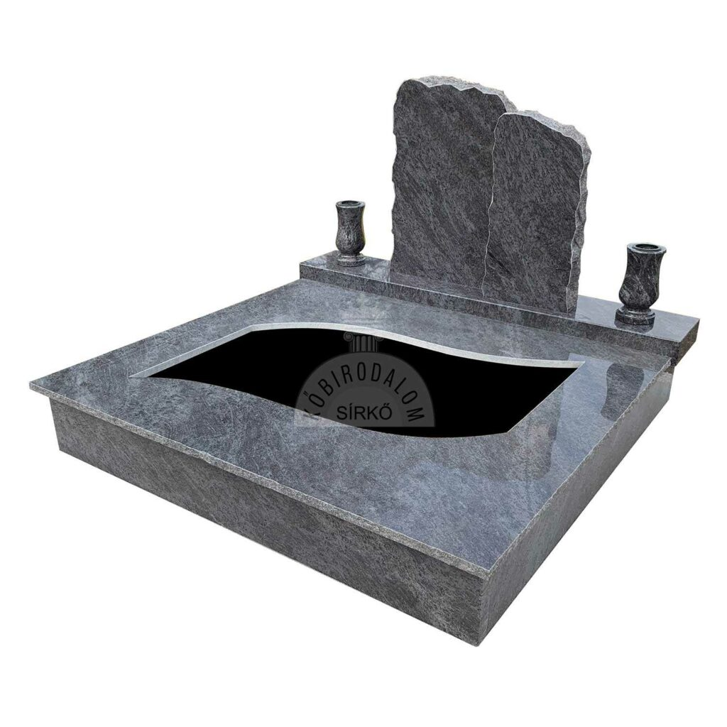 Vizag Blue gránit dupla sírkő
