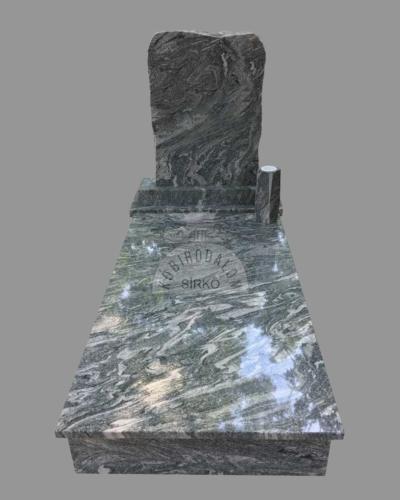 Verde Marina szimpla gránit sírkő - Ár: 465 000 Ft