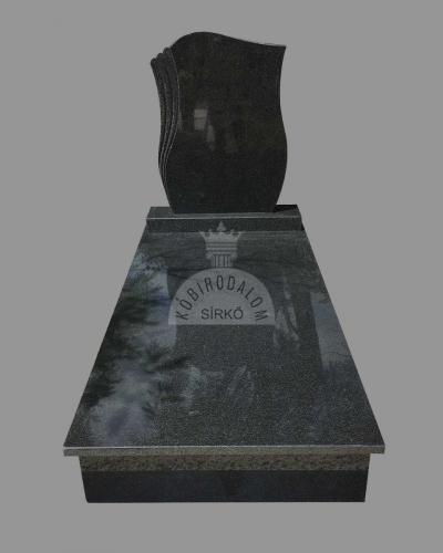 Royal Black szimpla gránit sírkő - Akciós ár: 480 000  Ft