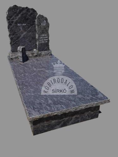 Vizag Blue szimpla gránit  sírkő - Akciós ár: 470 000Ft